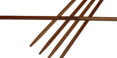 Ponožkové pletací jehlice bambusové krátké 2,0 délka 13 cm