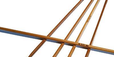 Ponožkové pletací jehlice bambusové 3,25 délka 25 cm