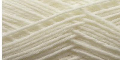 Jednobarevná ponožková příze 6-vrstvá Bílá