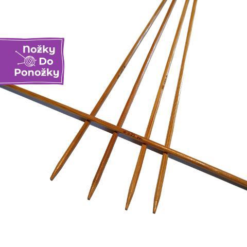 Ponožkové pletací jehlice bambusové 3,75 délka 20 cm