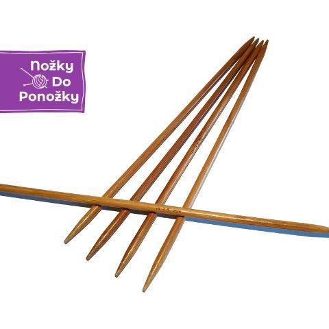 Ponožkové pletací jehlice bambusové 4,5 délka 25 cm