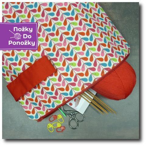 ručně vyrobená taška na pletení Lupínek