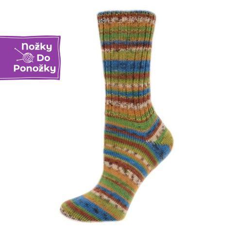 VZOREK Samovzorovací ponožková příze 4-vrstvá Keňa