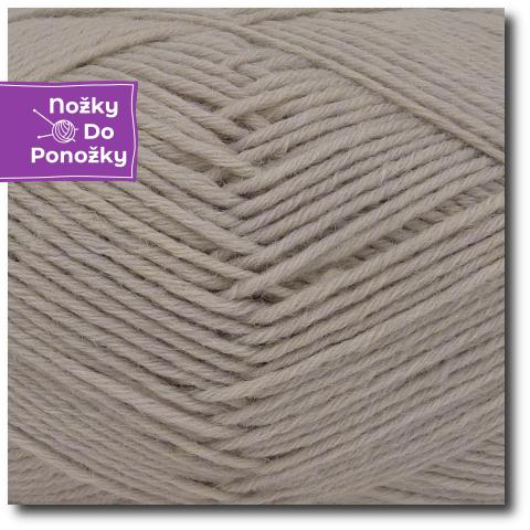 Jednobarevná ponožková příze 4-vrstvá Písek