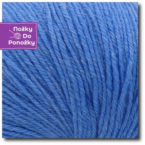 Ponožková příze 4-vrstvá s bambusem Nebeská modrá