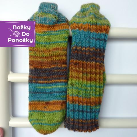 Ručně pletené ponožky Irské údolí 38-39