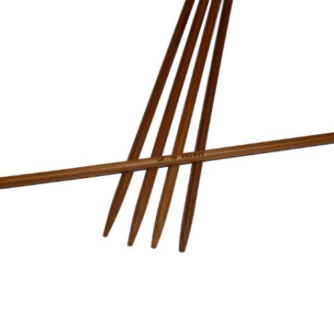 Ponožkové pletací jehlice bambusové krátké 2,5 délka 13 cm