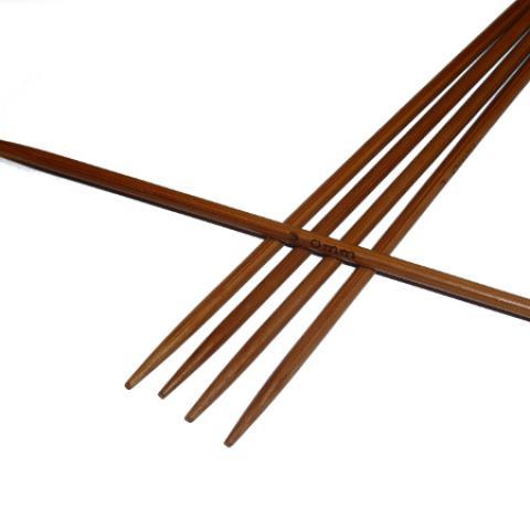 Ponožkové pletací jehlice bambusové krátké 3,25 délka 13 cm