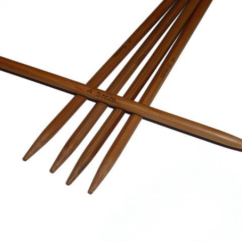 Ponožkové pletací jehlice bambusové krátké 4,5 délka 13 cm