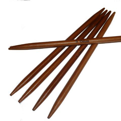 Ponožkové pletací jehlice bambusové krátké 5,0 délka 13 cm