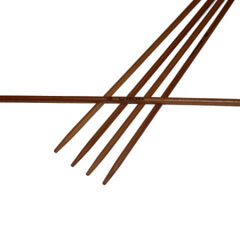 Ponožkové pletací jehlice bambusové 2,0 délka 25 cm