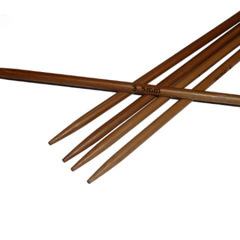 Ponožkové pletací jehlice bambusové 3,5 x 20 cm