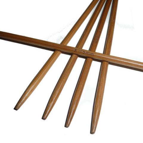 Ponožkové pletací jehlice bambusové krátké 3,75 délka 13 cm
