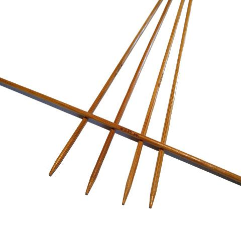 Ponožkové pletací jehlice bambusové 2,25 délka 25 cm