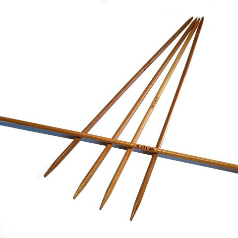 Ponožkové pletací jehlice bambusové 3,25 délka 20 cm