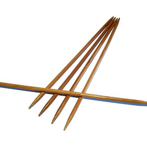 Ponožkové pletací jehlice bambusové 4,5 délka 20 cm