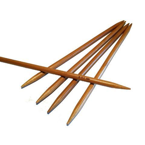 Ponožkové pletací jehlice bambusové 6,5 délka 20 cm