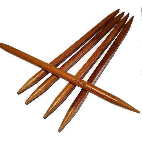 Ponožkové pletací jehlice bambusové 5,0 délka 20 cm