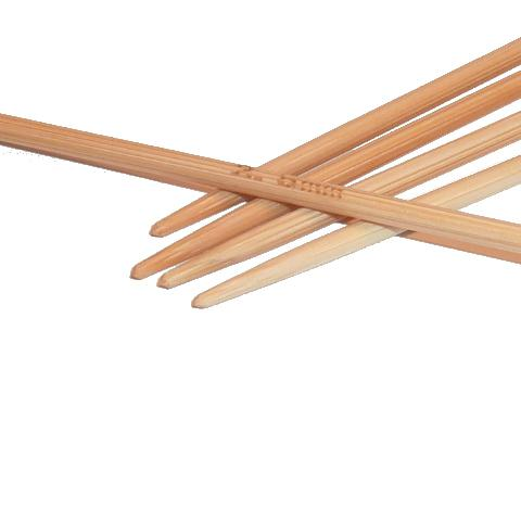 Ponožkové pletací jehlice bambusové 2,5 délka 20 cm