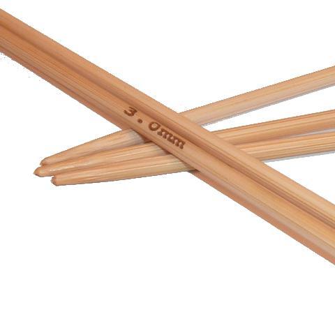 Ponožkové pletací jehlice bambusové 3,0 délka 20 cm