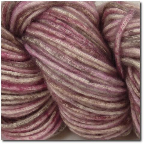 Samovzorovací příze Katia COTTON-MERINO CRAFT 207 Rose-Fawn brown-Light pink