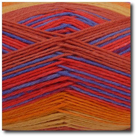 Samovzorovací ponožková příze 6-vrstvá Gründl Hot Socks Arco, 6-fach 06