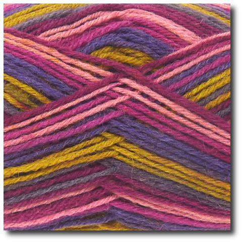 Samovzorovací ponožková příze 4-vrstvá Gründl Hot Socks Color 402