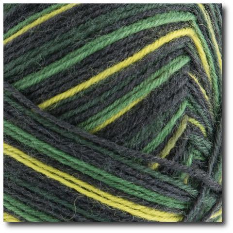 Samovzorovací ponožková příze 4-vrstvá Gründl Hot Socks Monte, 4-fach 03