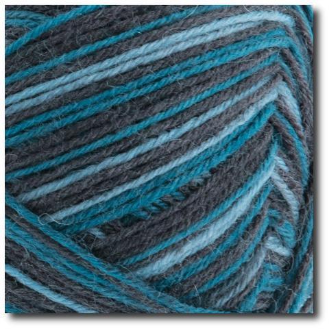 Samovzorovací ponožková příze 4-vrstvá Gründl Hot Socks Monte, 4-fach 06