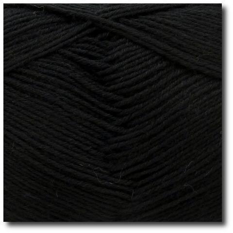 Jednobarevná ponožková příze 6-vrstvá Černá