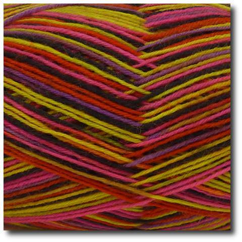 Samovzorovací ponožková příze 4-vrstvá Červený neon
