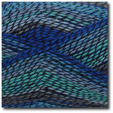 Samovzorovací ponožková příze 4-vrstvá Modré Capri