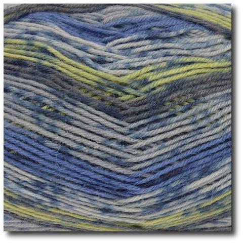 Samovzorovací ponožková příze 4-vrstvá Modrý krokus