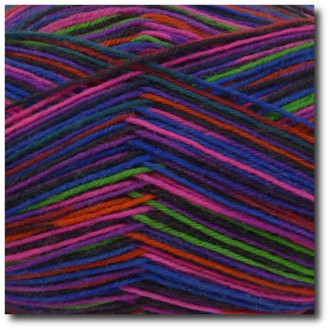 Samovzorovací ponožková příze 4-vrstvá Růžový neon