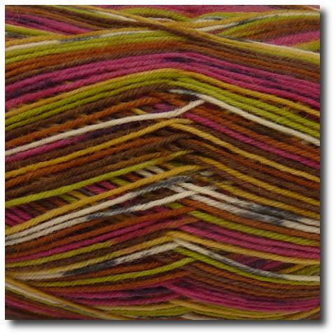 Samovzorovací ponožková příze 4-vrstvá Savana