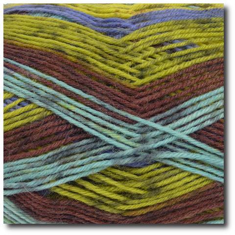 Samovzorovací ponožková příze 4-vrstvá Tundra