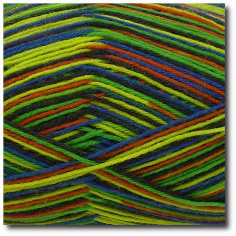 Samovzorovací ponožková příze 4-vrstvá Zelený neon