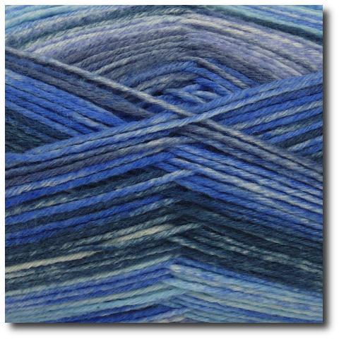 Samovzorovací ponožková příze 6-vrstvá Bouřlivé moře