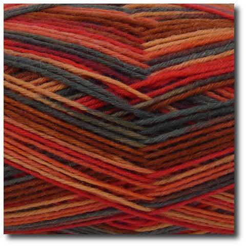 Samovzorovací ponožková příze 6-vrstvá Láva