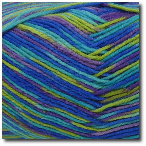 Samovzorovací ponožková příze 6-vrstvá Neon