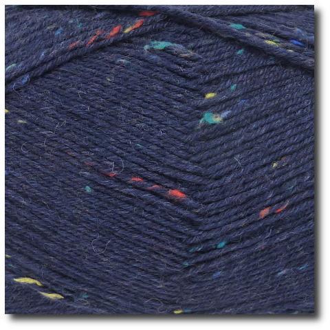 Tvídová ponožková příze 4vrstvá Tvíd marine