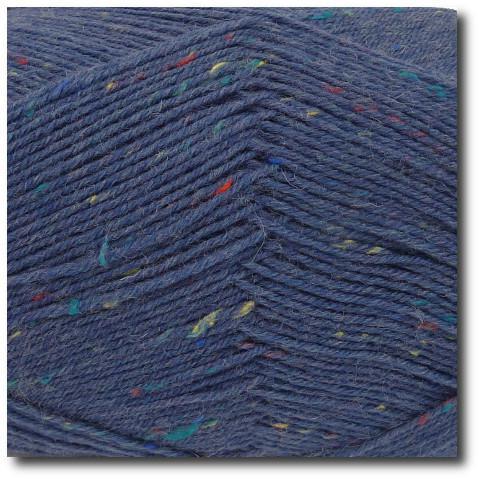 Tvídová ponožková příze 4vrstvá Tvíd modrošedý