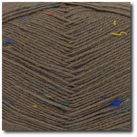 Tvídová ponožková příze 4vrstvá Tvíd šedohnědý