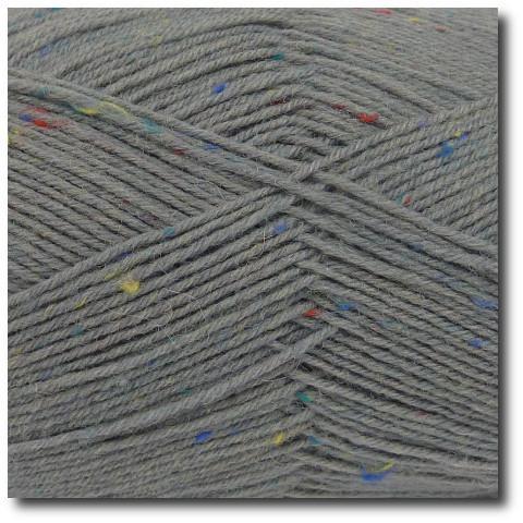 Tvídová ponožková příze 4vrstvá Tvíd světle šedý