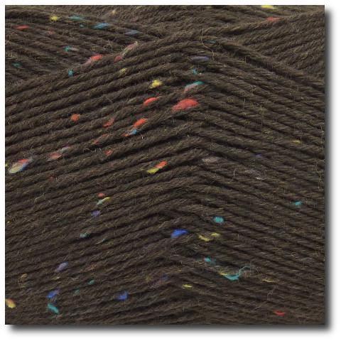 Tvídová ponožková příze 6-vrstvá Tvíd hnědý