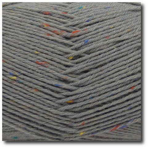 Tvídová ponožková příze 6-vrstvá Tvíd světle šedý