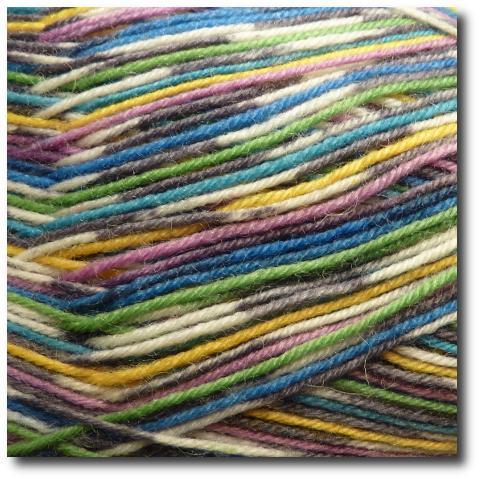 Samovzorovací ponožková příze 4-vrstvá Alpská louka