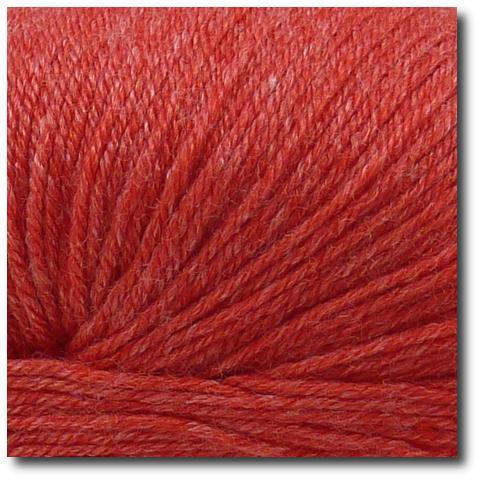 Ponožková příze 4-vrstvá s bambusem Červená jahoda