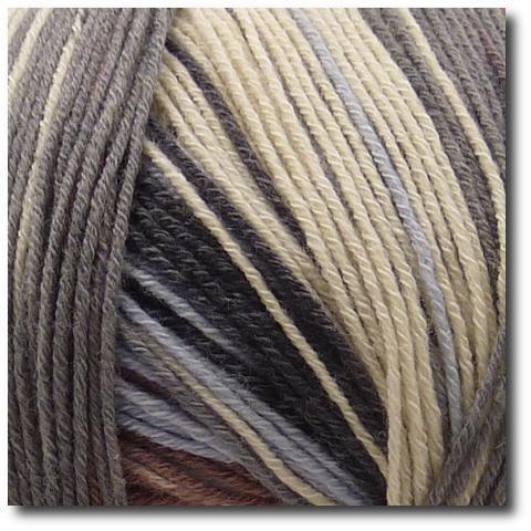 Samovzorovací velmi jemná ponožková příze 4-vrstvá s bavlnou Přírodní