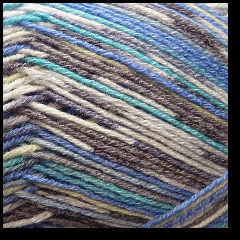 Samovzorovací ponožková příze 4-vrstvá Blankyt